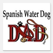 "spanish water dad trans.png Square Car Magnet 3"" x"