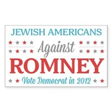 Jewish Americans Against Romney Decal