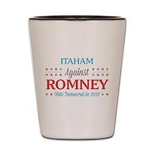 Itaham Against Romney Shot Glass