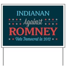 Indianan Against Romney Yard Sign