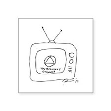 """The Recovery Channel Square Sticker 3"""" x 3"""""""