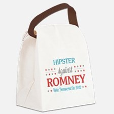 Hipster Against Romney Canvas Lunch Bag