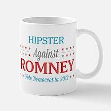 Hipster Against Romney Mug