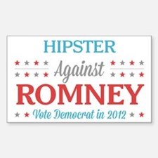 Hipster Against Romney Decal