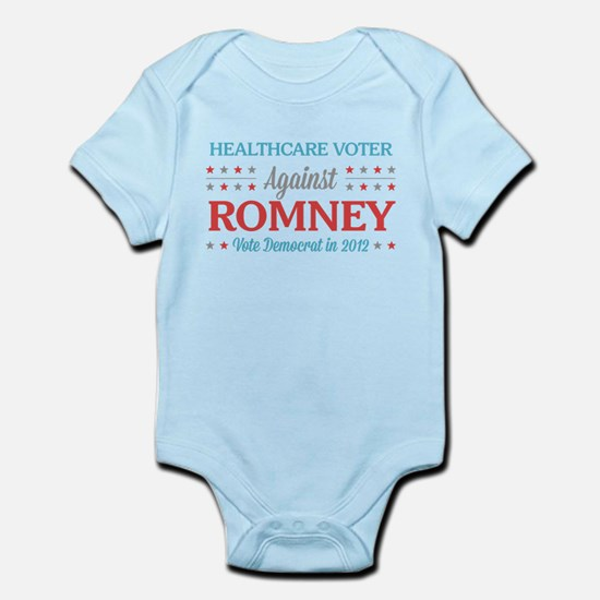 Healthcare Voter Against Romney Infant Bodysuit