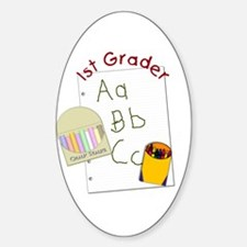 First Grader Oval Decal