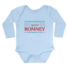 Environmentalist Against Romney Long Sleeve Infant