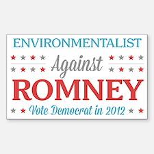 Environmentalist Against Romney Decal