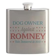 Dog Owner Against Romney Flask