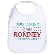 Dog Owner Against Romney Bib
