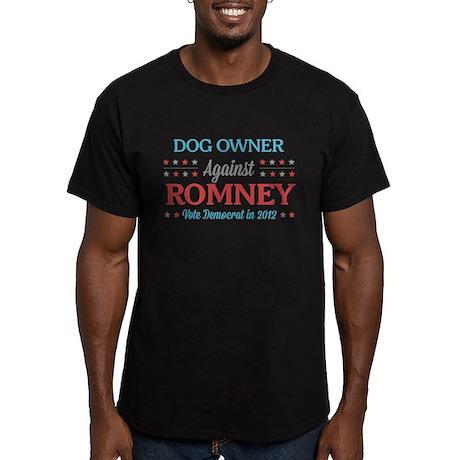 Dog Owner Against Romney Men's Fitted T-Shirt (dar
