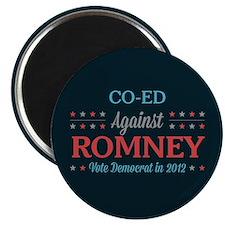 Co-Ed Against Romney Magnet