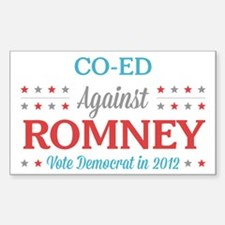Co-Ed Against Romney Sticker (Rectangle)