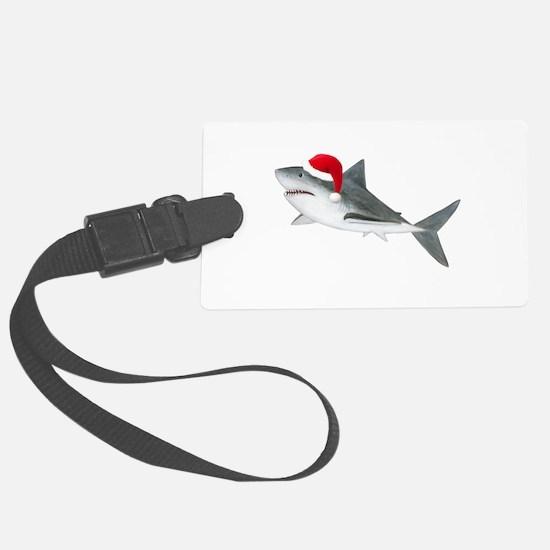 Christmas - Santa Shark Large Luggage Tag