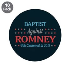 "Baptist Against Romney 3.5"" Button (10 pack)"