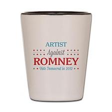Artist Against Romney Shot Glass
