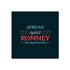 """African Americans Against Romney Square Sticker 3"""""""