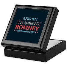 African Americans Against Romney Keepsake Box