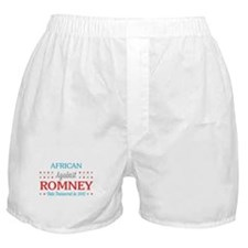 African Americans Against Romney Boxer Shorts