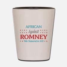 African Americans Against Romney Shot Glass