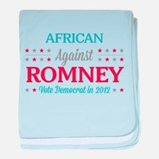African Americans Against Romney baby blanket