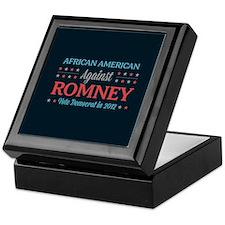 African American Against Romney Keepsake Box