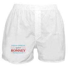 African American Against Romney Boxer Shorts
