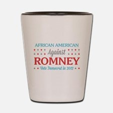 African American Against Romney Shot Glass