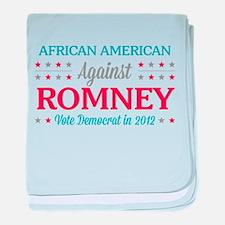 African American Against Romney baby blanket