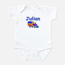 Train Engine Julian Infant Creeper