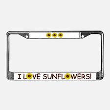 Helaine's Sunflower License Plate Frame