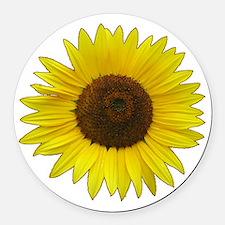 Helaine's Sunflower Round Car Magnet