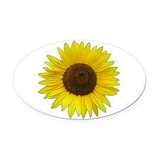 Helaine's Sunflower Oval Car Magnet