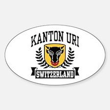 Kanton Uri Sticker (Oval)