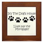 Dogs House 1 Framed Tile