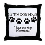 Dogs House 1 Throw Pillow