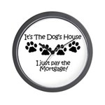 Dogs House 1 Wall Clock