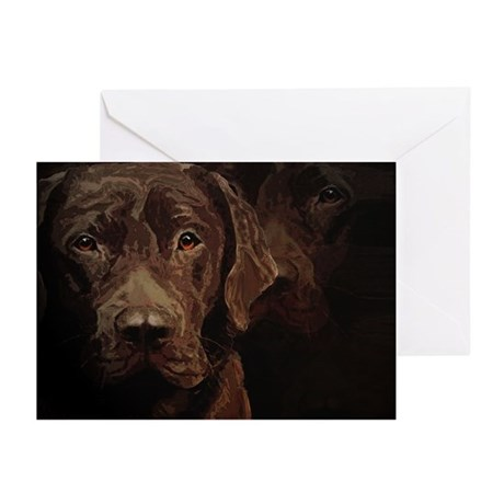 Chocolate Labrador Greeting Cards (Pk of 10)