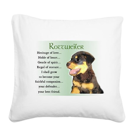 heritage of love rottweiler pup.png Square Canvas