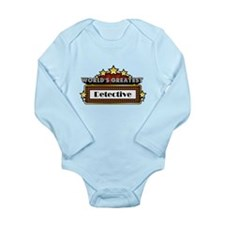 World's Greatest Detective Long Sleeve Infant Body