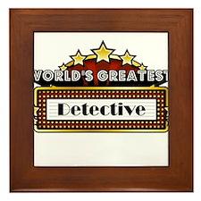 World's Greatest Detective Framed Tile