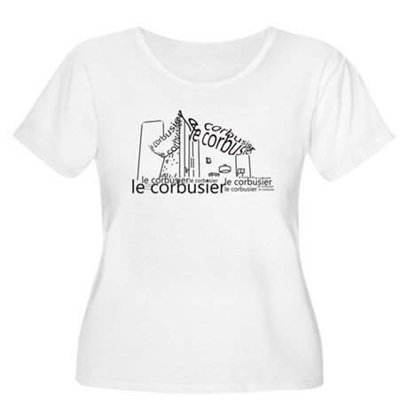 Le Corbusier Women's Plus Size Scoop Neck T-Shirt
