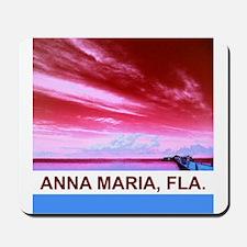 Red Anna Maria City Pier Mousepad