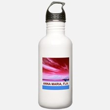Red Anna Maria City Pier Water Bottle