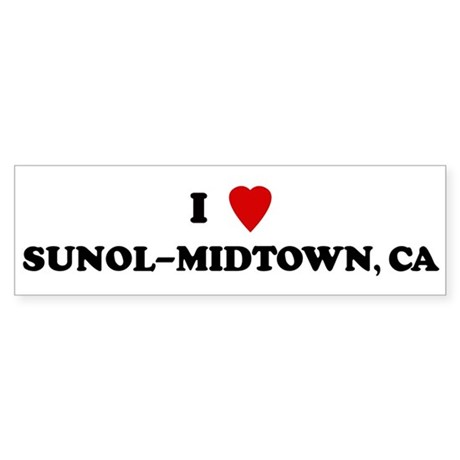 I Love SUNOL-MIDTOWN Bumper Sticker