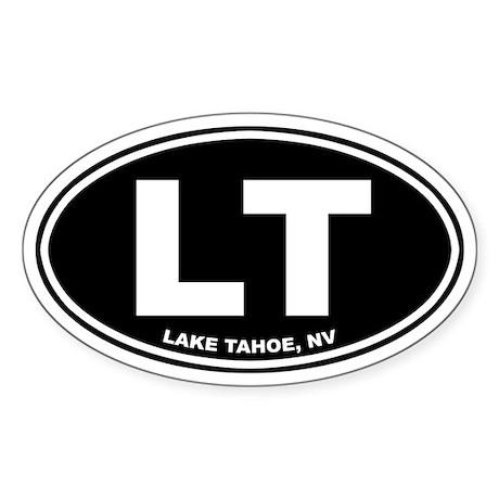 LT (Lake Tahoe) Oval Sticker
