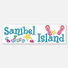 Sanibel Island Flip-Flops Bumper Bumper Bumper Sticker