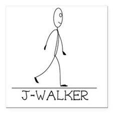 "J-Walker Square Car Magnet 3"" x 3"""