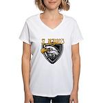Nicks Football Jersey Number Women's V-Neck T-Shir