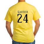 Nicks Football Jersey Number Yellow T-Shirt